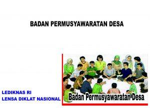 BIMTEK BADAN PERMUSYAWARATAN DESA (BPD)