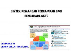 Jadwal Bimtek Bendahara Pengeluaran SKPD