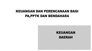 Jadwal Bimtek Administrasi Keuangan