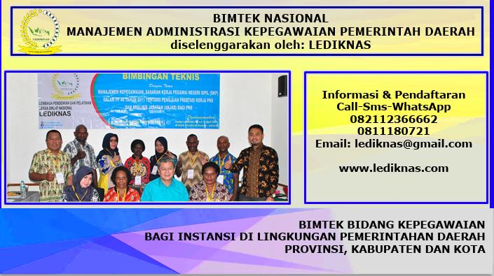 Bimtek Nasional Manajemen Administrasi Kepegawaian Pemerintah Daerah
