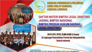 Bimtek Produk Hukum Daerah Legal Drafting