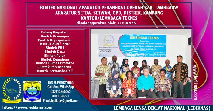Bimtek Aparatur Perangkat Daerah Kabupaten Tambrauw